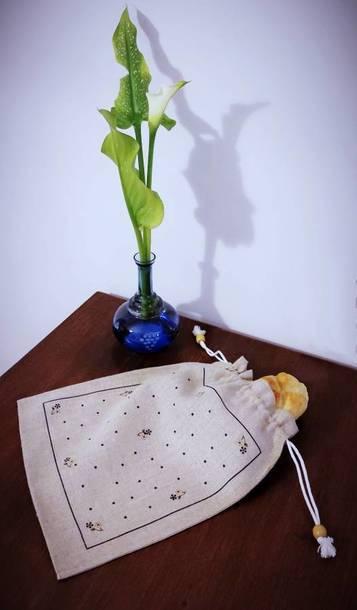 Worek na chleb - Kwiatki (1)