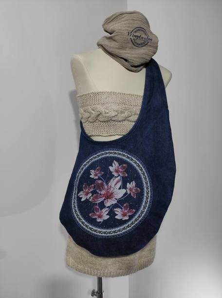 Torba - Kwiat Śliwy - jeans (1)
