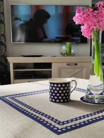 Obrus - Granatowa 2 - 100 x 100 cm